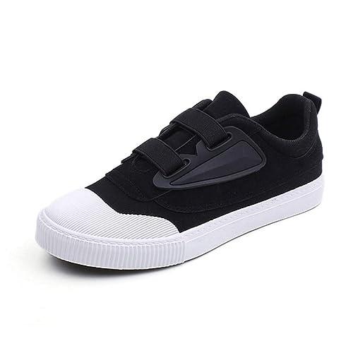 Zapatos De Lona para Hombre Zapatillas Casual Deportes Plano Transpirable Zapatos Zapatillas De Bajo-Top: Amazon.es: Zapatos y complementos