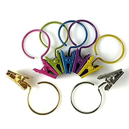 Amazon JANOU Colorful Curtain Clip Rings Shower Hanging