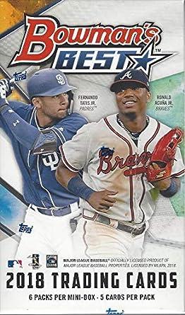Amazoncom 2018 Bowmans Best Mlb Baseball Mini Box 6 Pk