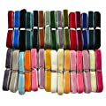 "Chenkou Craft 30 Yards 3/8"" Velvet Ribbon Total 30 Colors Assorted Lots Bulk"