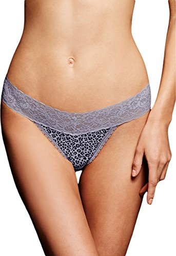 Maidenform One Size All Lace Thong_Sexy Grey Animal_1 Size