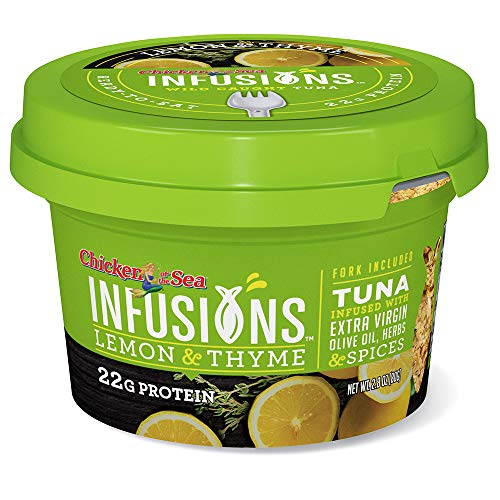 Chicken of the Sea Infusions Tuna, Lemon & Thyme, 2.8 Oz Cups, Pack of 6