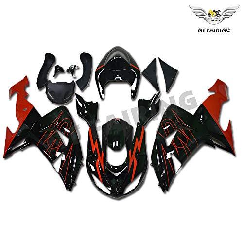 New Red Black Fairing Fit for Kawasaki Ninja 2006 2007 ZX10R ZX-10R Injection Mold ABS Plastics Aftermarket Bodywork Bodyframe 06 07