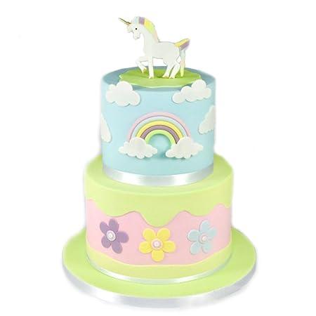 Amazon De Albeey Weiss Einhorn Cutter Zucker Kuchen Drucken Form