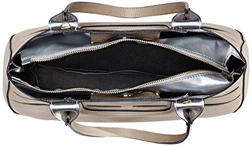 Chicca Borse 8685, Borsa a Spalla Donna, 36x23x14 cm (W x H x L) Beige (Taupe)