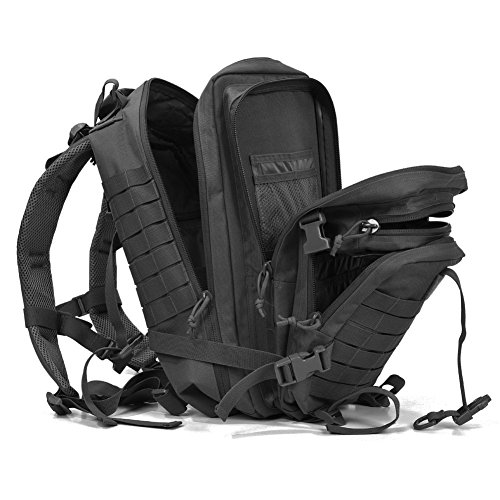 Military Tactical Assault Pack Backpack Army Molle Waterproof Small Hiking Black