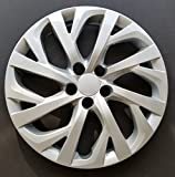 #7: MARROW One New Wheel Cover Hubcap Replacement Fits 2017-2018 Toyota Corolla LE; 16 inch; 16 Spoke; Silver Color; Plastic