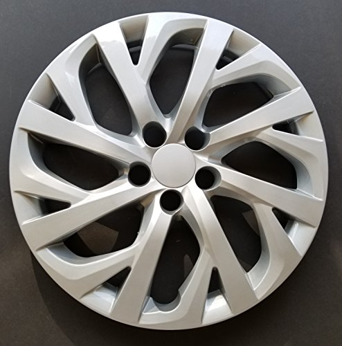 MARROW One New Wheel Cover Hubcap Replacement Fits 2017-2018 Toyota Corolla LE; 16 inch; 16 Spoke; Silver Color; ()