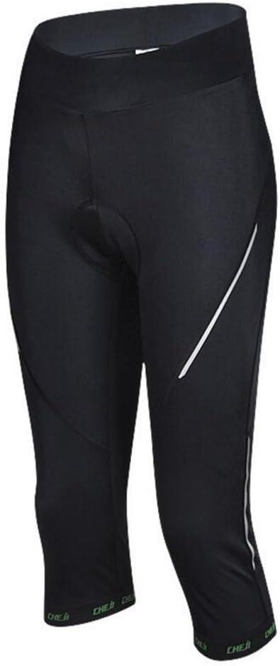 GWELL V/élo Femme Cuissard 3D rembourr/é Pantalon de Pantalon 3//4/Confort Slim fit