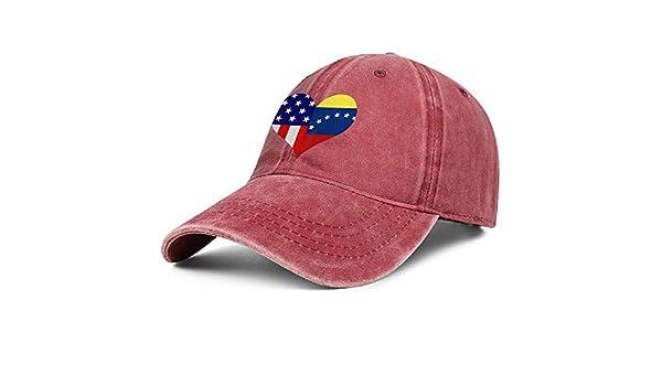 Unisex Venezuela Heart Shaped Flag Vintage Washed Dad Hat Cute Adjustable Baseball Cap