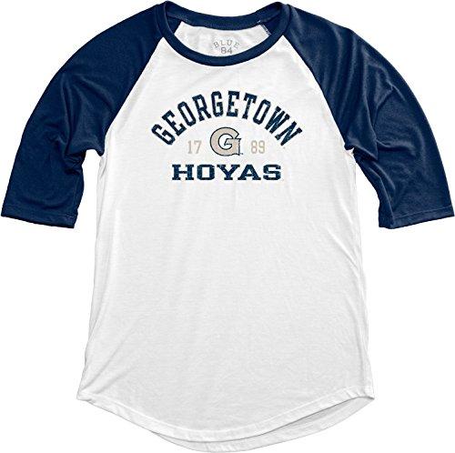 NCAA Georgetown Hoyas Adult Women NCAA Women's Teagan Baseball Tee,x Large,Navy