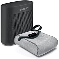 Bose SoundLink Color Bluetooth Speaker II - Soft Black & Reversible Case - Bundle