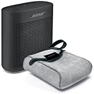 Bose SoundLink Color Bluetooth Speaker II, Soft Black - BUNDLE with SoundLink Color Carry Case, Gray