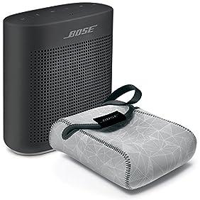 Bose SoundLink Color Bluetooth Speaker II, Soft Black - BUNDLE with SoundLink Color Carry Case, Gray