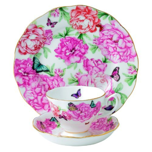 Royal Albert Gratitude 3-Piece Teacup, Saucer and Plate Set Designed by Miranda Kerr by Royal Albert