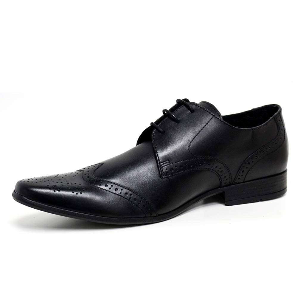 Mens Casual Formal Office Smart Work Italian Lace Up Oxford Brogue Shoes Size UK