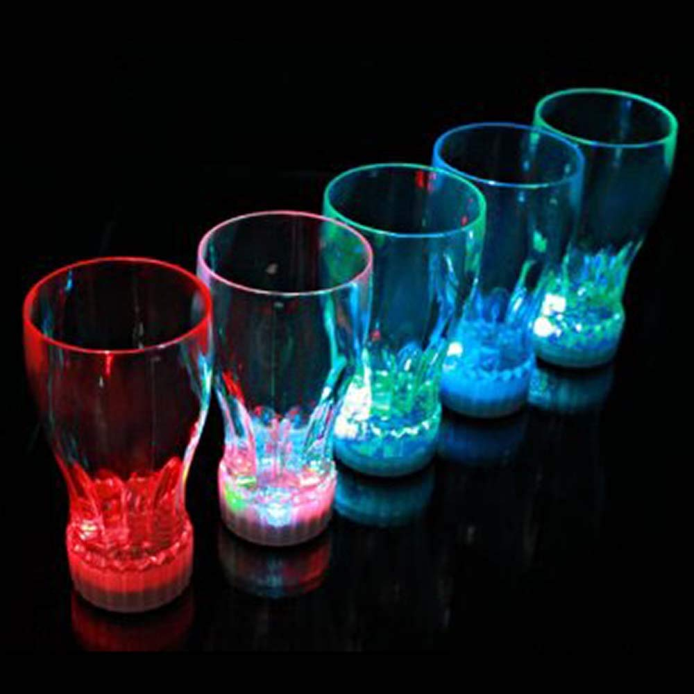 Flashing Panda Party Pack of 24 11-oz LED Light-Up Flashing Multi-Color Cola / Juice Party Cups