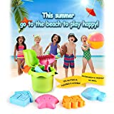 SainSmart Jr. Baby Beach Toy Winter Snow Toys for Kids, 8 PCS Water Toy Safe TPE Material Beach Toy Set
