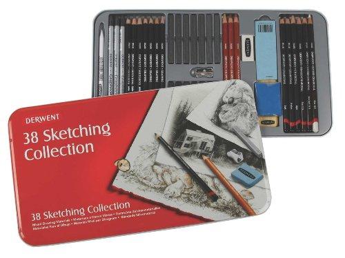 Derwent Sketching Collection, Metal Tin, 38 Count (34307) by Derwent