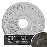 Ekena Millwork CM16APWHC Ceiling Medallion 16 1/2'' OD x 3 ID x 1 1/8'' P Apollo (fits Canopies up to 5 5/8''), Witch Hazel Crackle