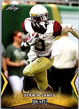 2018 Leaf Draft Gold  21 Derwin James Florida State Seminoles Football Card bc0d3310c