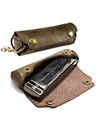 Tuff-Luv Swan Harmonica (Note C) with Western Leather Case Leather Brown [H2_59]