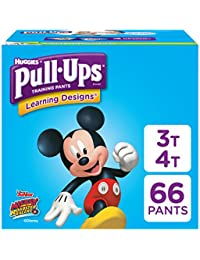 Learning Designs Training Pants for Boys, 3T-4T (32-40 lbs.), 66 Count, Toddler Potty Training Underwear, Packaging May Vary