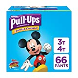 Health & Personal Care : Pull-Ups Learning Designs Training Pants for Boys, 3T-4T (32-40 lbs.), 66 Count, Toddler Potty Training Underwear, Packaging May Vary