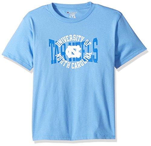 Champion NCAA Youth Boys Shirt 100% Cotton Tagless Tee, North Carolina Tar Heels, Medium