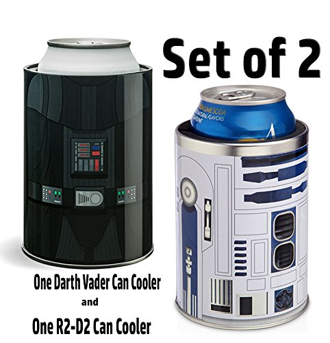 Darth Vader & R2-D2 Can Cooler (Set of 2)