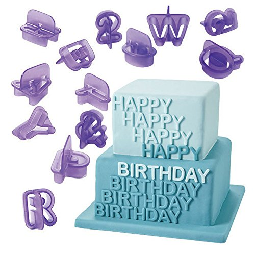 Amazon.com: Anyana 40pcs set Letters & Number Plastic Cookie Cutter Cake Mould Tool Kitchen Tool Sugar Paste Baking Mould Cookie Pastry: Kitchen & Dining