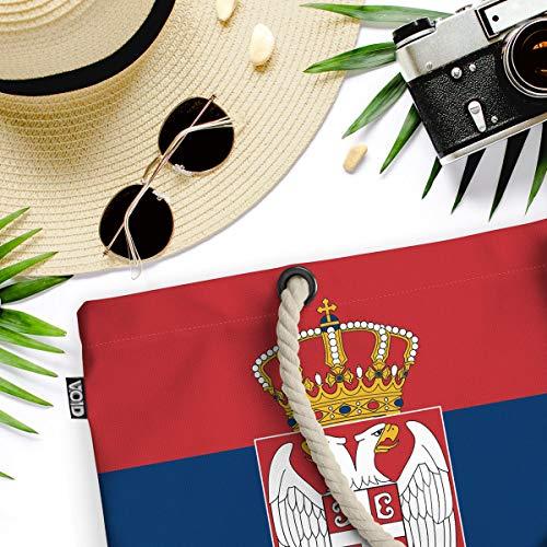 VOID XXL strandväska Serbien serber Shopper väska 58 x 38 x 16 cm 23 L Beach Bag Serbien serber