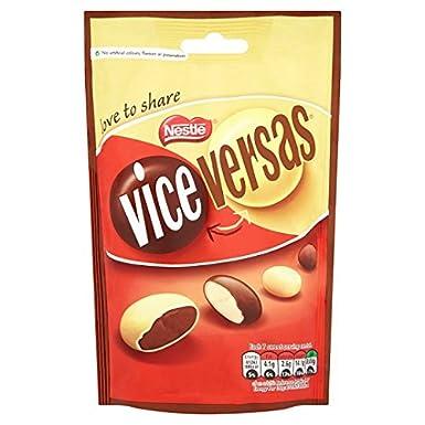 Smarties Vice Versas Chocolate Pouch 126g Amazoncouk Grocery