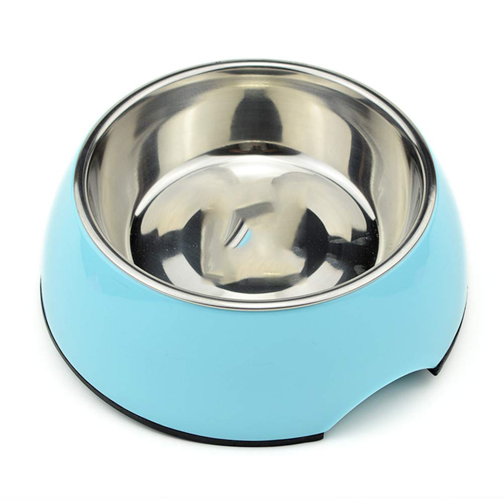 A WU-pet supplies Dog Bowl Single Bowl Stainless Steel Food Bowl Rice Bowl Resin pet Bowl cat Bowl cat Food Bowl