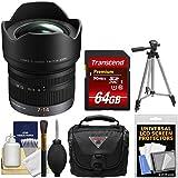 Panasonic Lumix G X Vario 7-14mm f/4.0 ASPH. Zoom Lens with 64GB Card + Case + Tripod + Kit for G6, G7, GF7, GH3, GH4, GM1, GM5, GX7, GX8 Camera
