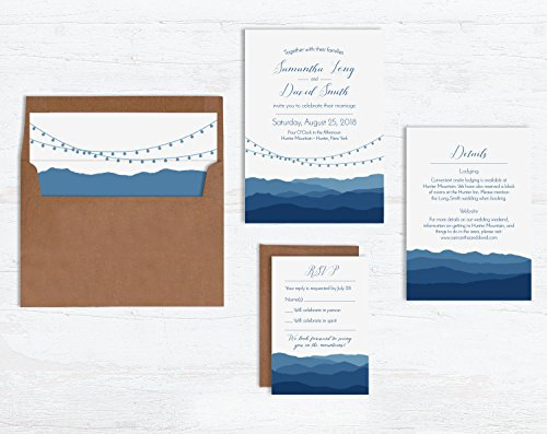 Blue Ridge Mountains Wedding Invitations by Wild Blue Dream & Wild Blue Weddings