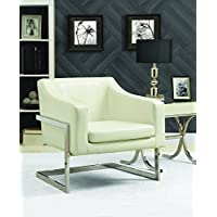 Coaster Home Furnishings 902539 Accent Chair, NULL, White