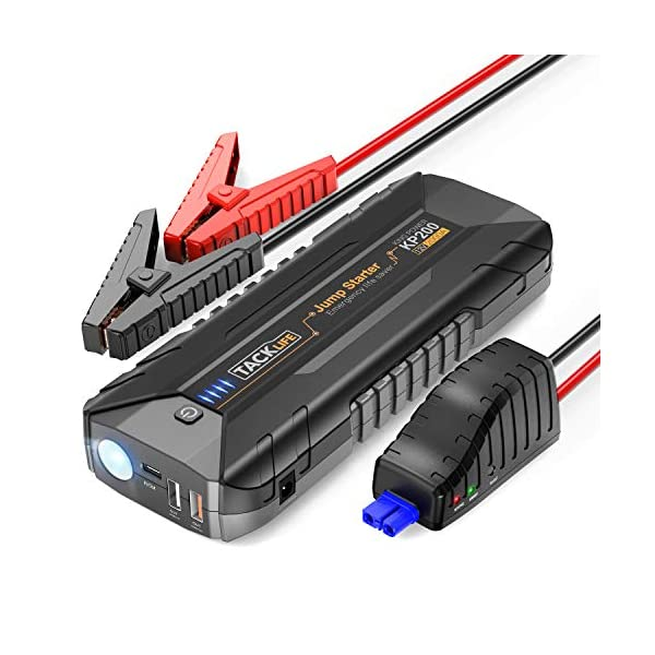 TACKLIFE 2000A Car Jump Starter for up to ALL Gas and 7L Diesel Engines, 12V Car Battery Booster, Portable Power Pack with Quick Charge 3.0 and Type-C port