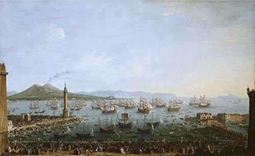 (High Quality Polyster Canvas ,the High Definition Art Decorative Canvas Prints Of Oil Painting 'Joli Antonio Carlos III Embarking In Naples 1759 ', 18 X 29 Inch / 46 X 75 Cm Is Best For Study Decoration And Home Artwork And Gifts)
