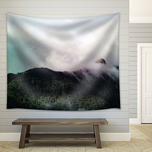 Landscape with Cloud over the Mountain Peaks Fabric Wall Tapestry