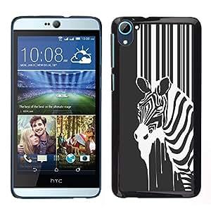 EJOY---Cubierta de la caja de protección la piel dura para el / HTC Desire D826 / --B & W Zebra