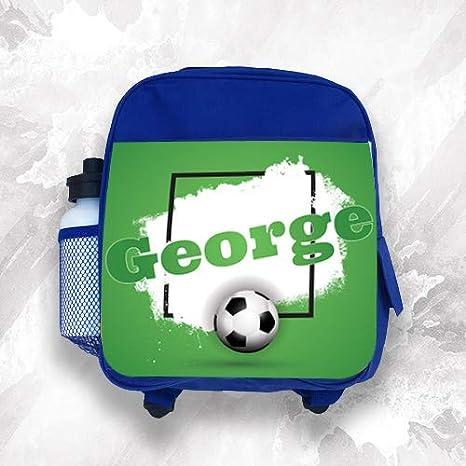 Mochila infantil personalizada con cualquier nombre de fútbol para niños y niñas: Amazon.es: Hogar