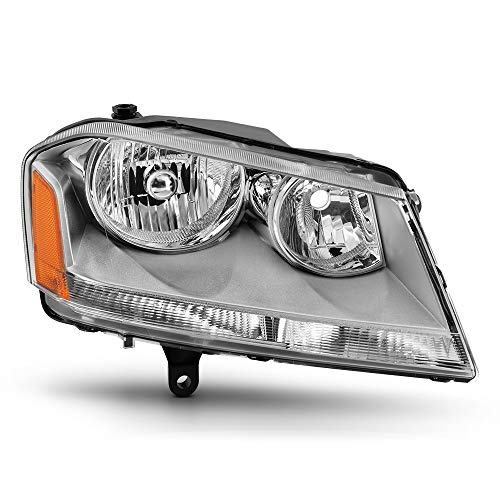 (VIPMOTOZ Chrome Housing OE-Style Headlight Headlamp Assembly For 2008-2014 Dodge Avenger, Passenger)