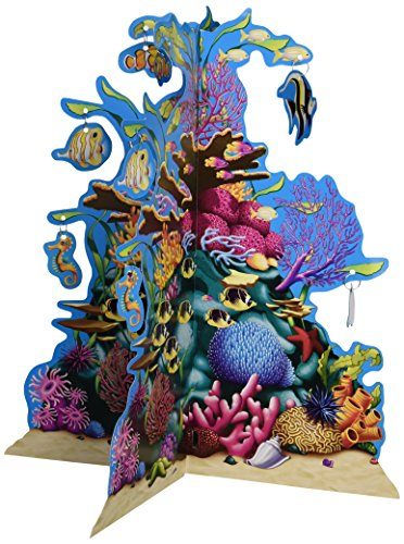 Beistle 57323 3D Coral Reef Centerpiece, 10-Inch (Coral Reef Decorations)