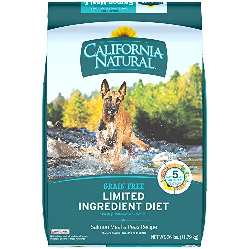 CALIFORNIA NATURAL Adult Limited Ingredient Grain Free Salmon Meal and Peas Recipe Dog Food 26 Pounds