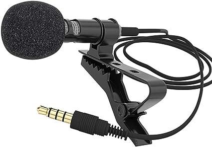 MA87 - Micrófono de pinza de corbata (jack de 3,5 mm, para voz ...