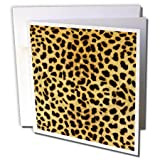 3dRose Cheetah Animal Print - Greeting Cards, 6 x 6 inches, set of 12 (gc_20340_2)