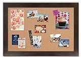 Framed Cork Board with Espresso Walnut Frame