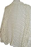 Womens Handmade Cotton Crochet Icvory Shrug, Cream Bolero, Summer Fashion Wrap, Cape Cloak, Shoulder Shawl, Stole,