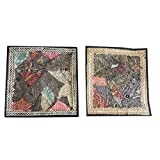 Mogul Sequin Cushion Cover Zari Embroidery Patchwork Pillow Cases Festive Décor Idea